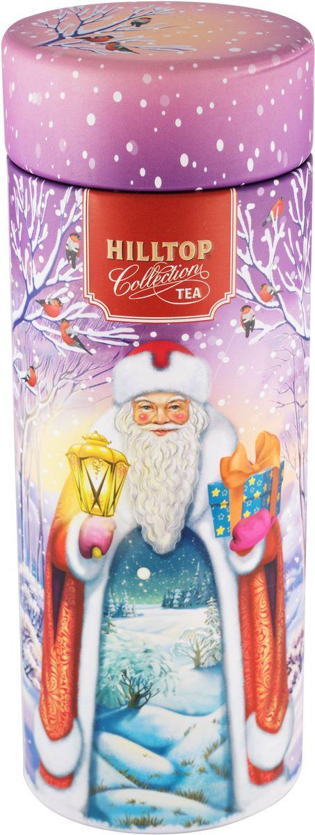 """Hilltop """"Праздничный вечер"""" Земляника со сливками ароматизированный листовой чай, 100 г 4607099307100"""