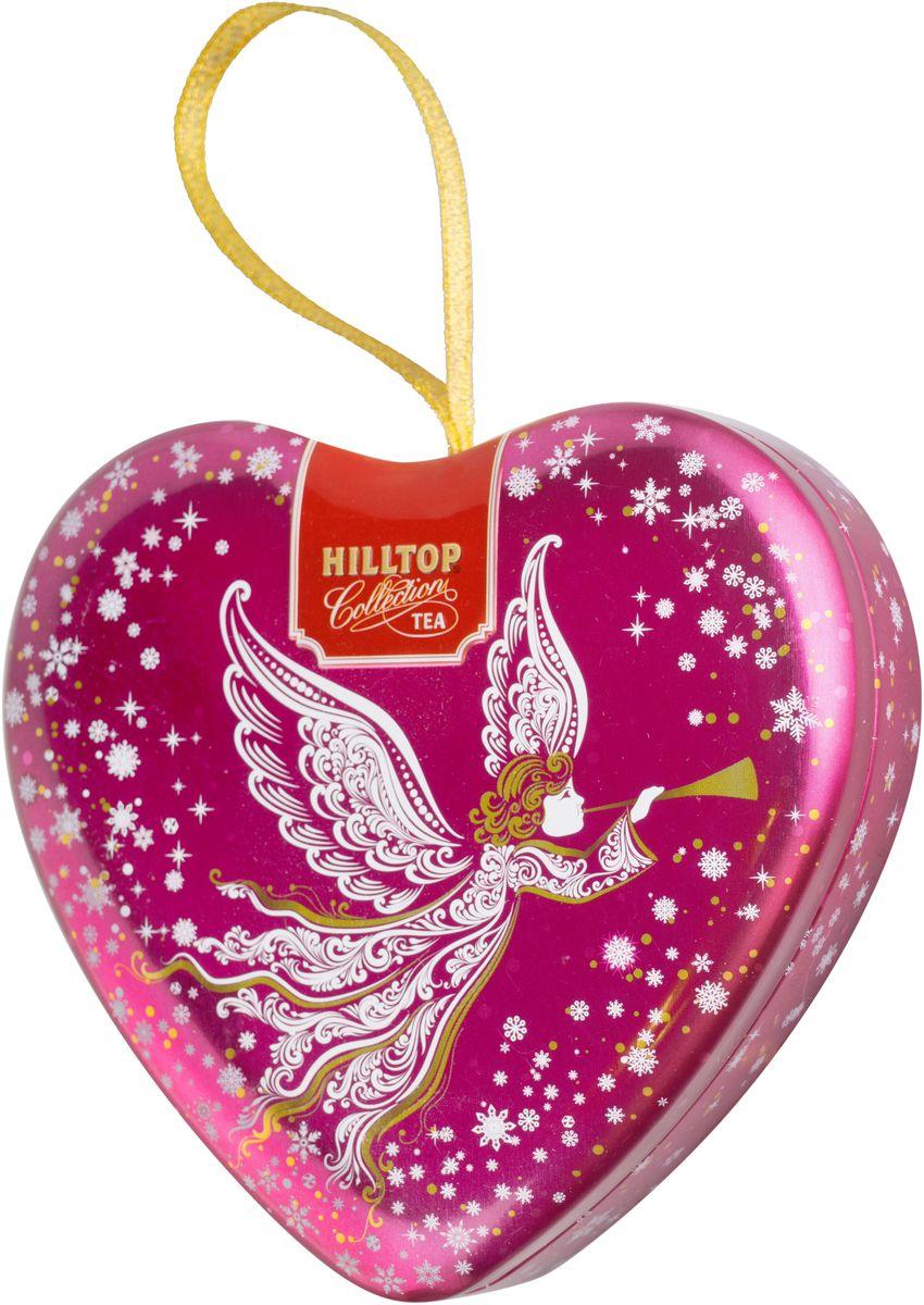 Hilltop Сердечко Светлый ангел Зимняя клюква ароматизированный листовой чай, 50 г4607099307148Hilltop Зимняя клюква - черный крупнолистовой чай с добавлением кусочков ягод клюквы. Поставляется в подарочной металлической упаковке в форме сердечка. Отлично подойдет в качестве подарка на новогодние праздники.