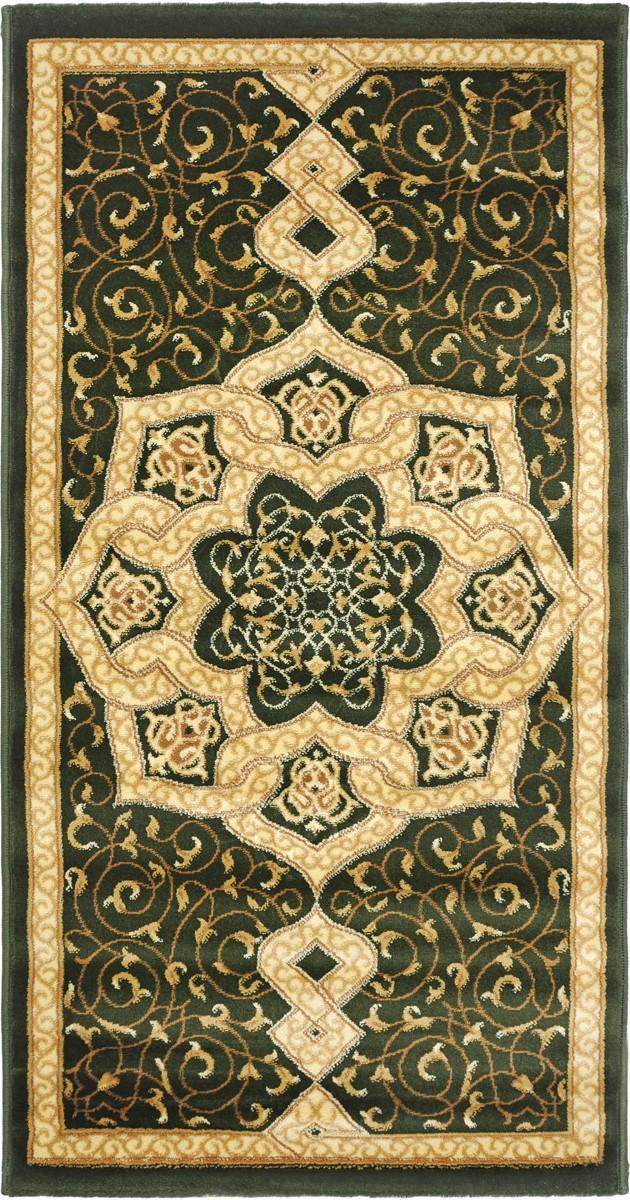 Ковер Kamalak Tekstil, прямоугольный, 80 x 150 см. УК-0420УК-0420Ковер Kamalak Tekstil изготовлен из прочного синтетического материала heat-set, улучшенного варианта полипропилена (эта нить получается в результате его дополнительной обработки). Полипропилен износостоек, нетоксичен, не впитывает влагу, не провоцирует аллергию. Структура волокна в полипропиленовых коврах гладкая, поэтому грязь не будет въедаться и скапливаться на ворсе. Практичный и износоустойчивый ворс не истирается и не накапливает статическое электричество. Ковер обладает хорошими показателями теплостойкости и шумоизоляции. Оригинальный рисунок позволит гармонично оформить интерьер комнаты, гостиной или прихожей. За счет невысокого ворса ковер легко чистить. При надлежащем уходе синтетический ковер прослужит долго, не утратив ни яркости узора, ни блеска ворса, ни упругости. Самый простой способ избавить изделие от грязи - пропылесосить его с обеих сторон (лицевой и изнаночной). Влажная уборка с применением шампуней и...