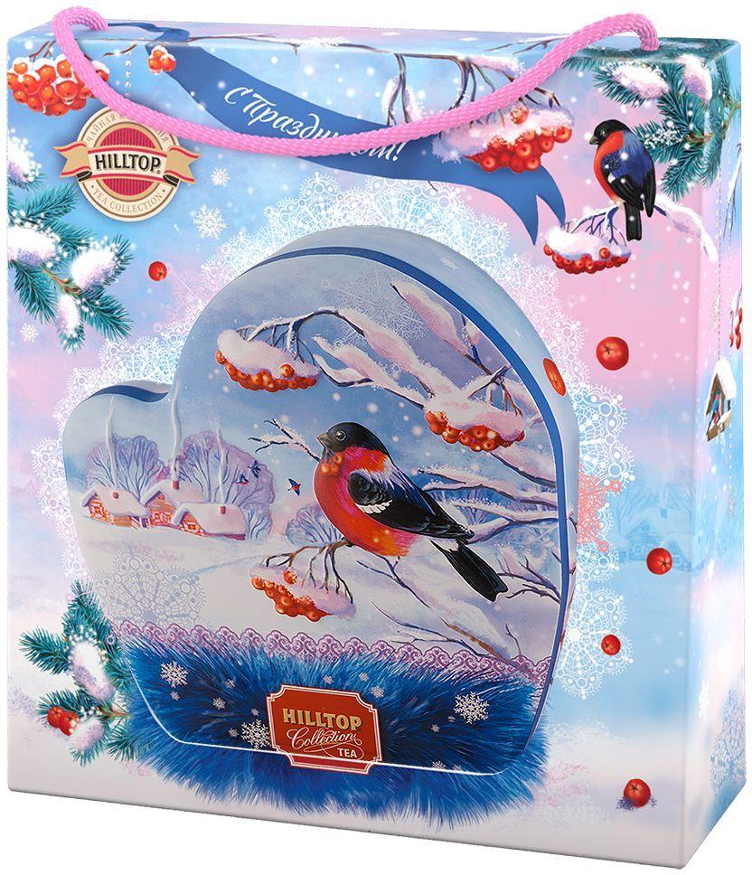 Hilltop Морозное утро Подарок Цейлона черный листовой чай, 80 г4607099307001Hilltop Морозное утро Подарок Цейлона - крупнолистовой цейлонский черный чай с глубоким, насыщенным вкусом и изумительным ароматом. Поставляется в красочной подарочной упаковке. Отлично подойдет в качестве подарка на новогодние праздники.
