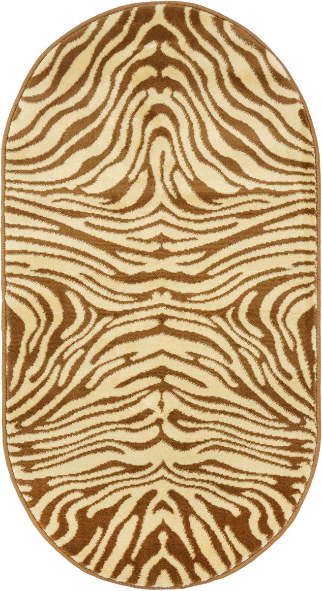 Ковер Kamalak Tekstil, овальный, 60 x 110 см. УК-0042УК-0042Ковер Kamalak Tekstil изготовлен из прочного синтетического материала heat-set, улучшенного варианта полипропилена (эта нить получается в результате его дополнительной обработки). Полипропилен износостоек, нетоксичен, не впитывает влагу, не провоцирует аллергию. Структура волокна в полипропиленовых коврах гладкая, поэтому грязь не будет въедаться и скапливаться на ворсе. Практичный и износоустойчивый ворс не истирается и не накапливает статическое электричество. Ковер обладает хорошими показателями теплостойкости и шумоизоляции. Оригинальный рисунок позволит гармонично оформить интерьер комнаты, гостиной или прихожей. За счет невысокого ворса ковер легко чистить. При надлежащем уходе синтетический ковер прослужит долго, не утратив ни яркости узора, ни блеска ворса, ни упругости. Самый простой способ избавить изделие от грязи - пропылесосить его с обеих сторон (лицевой и изнаночной). Влажная уборка с применением шампуней и...