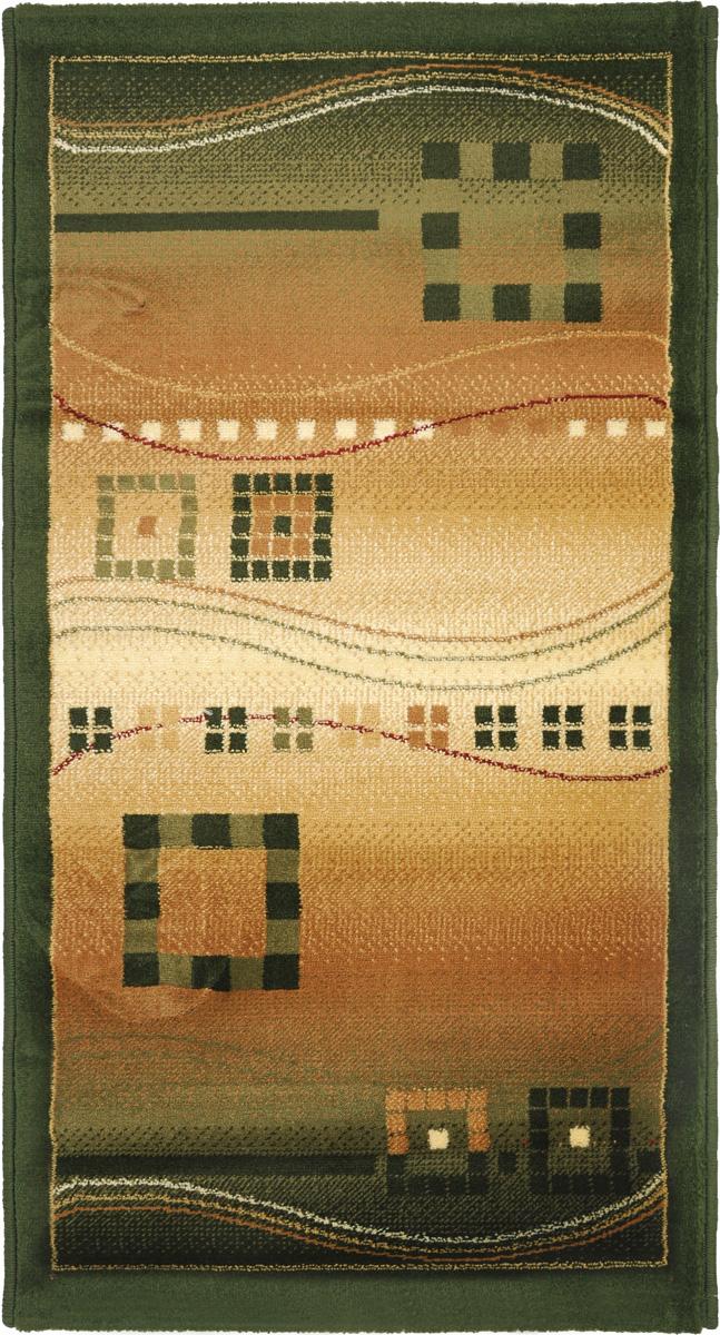 Ковер Kamalak Tekstil, прямоугольный, 60 x 110 см. УК-0079УК-0079Ковер Kamalak Tekstil изготовлен из прочного синтетического материала heat-set, улучшенного варианта полипропилена (эта нить получается в результате его дополнительной обработки). Полипропилен износостоек, нетоксичен, не впитывает влагу, не провоцирует аллергию. Структура волокна в полипропиленовых коврах гладкая, поэтому грязь не будет въедаться и скапливаться на ворсе. Практичный и износоустойчивый ворс не истирается и не накапливает статическое электричество. Ковер обладает хорошими показателями теплостойкости и шумоизоляции. Оригинальный рисунок позволит гармонично оформить интерьер комнаты, гостиной или прихожей. За счет невысокого ворса ковер легко чистить. При надлежащем уходе синтетический ковер прослужит долго, не утратив ни яркости узора, ни блеска ворса, ни упругости. Самый простой способ избавить изделие от грязи - пропылесосить его с обеих сторон (лицевой и изнаночной). Влажная уборка с применением шампуней и...
