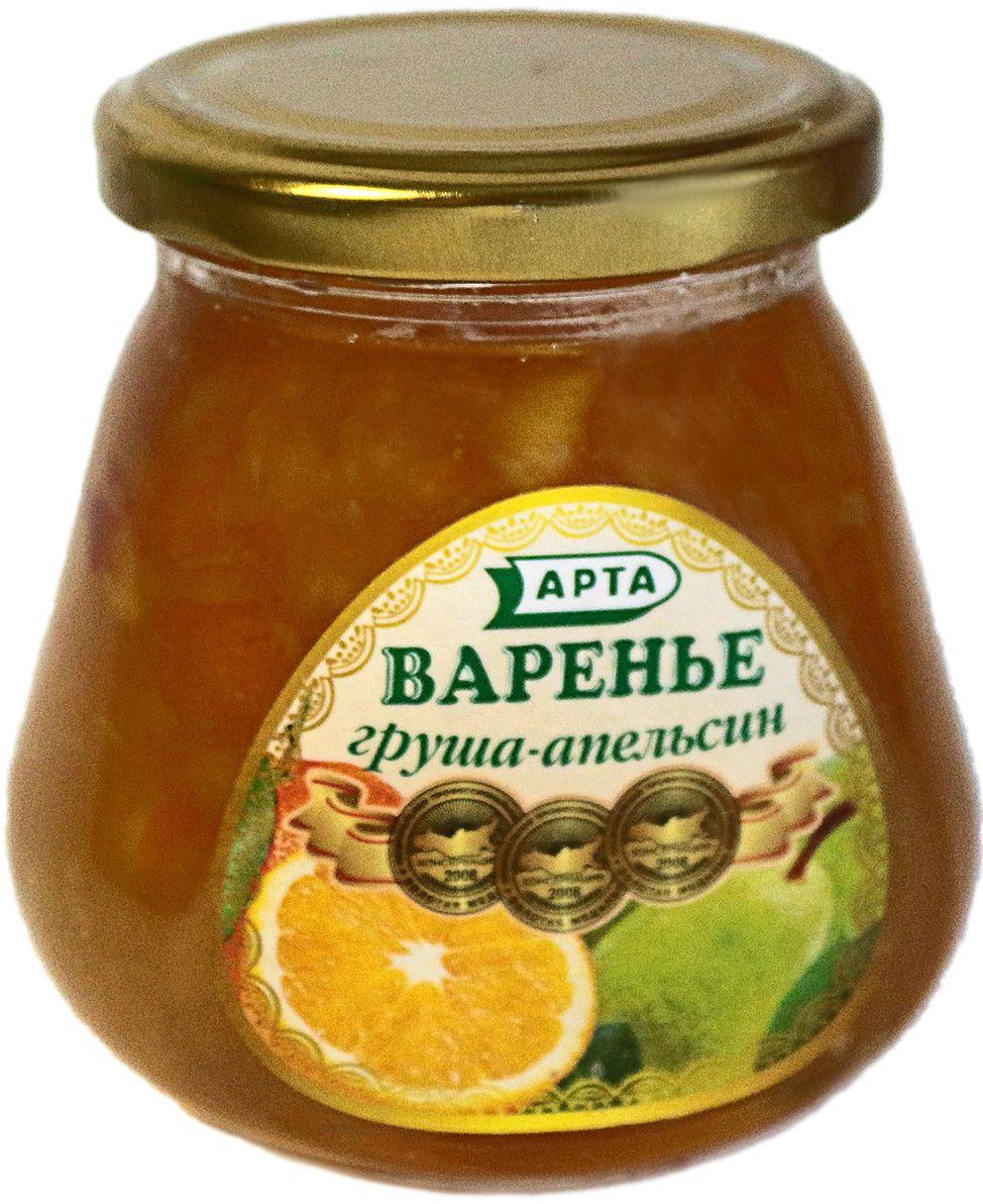 Арта натуральное варенье из груши и апельсина, 530 г