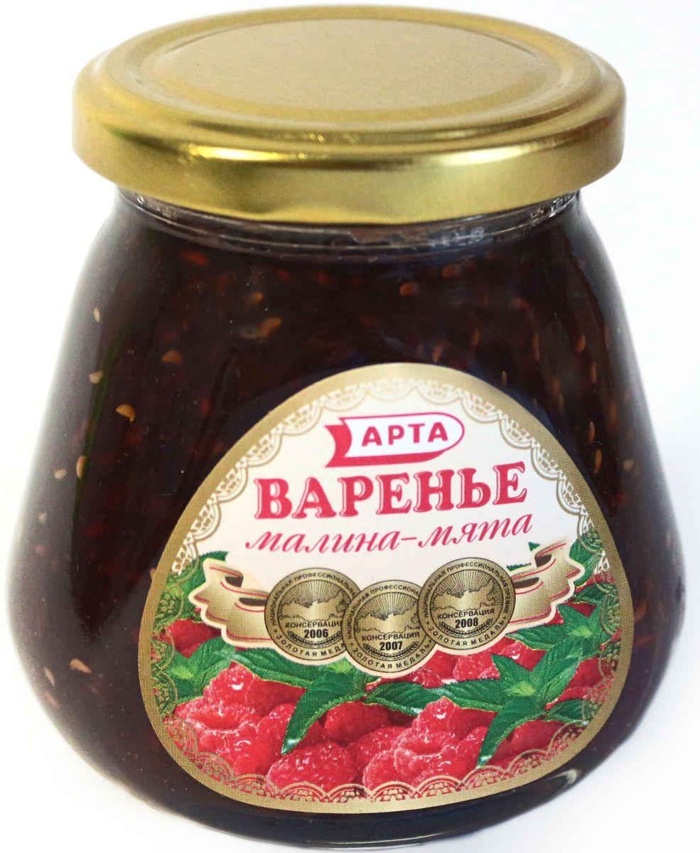 Арта натуральное варенье из малины и мяты, 530 г