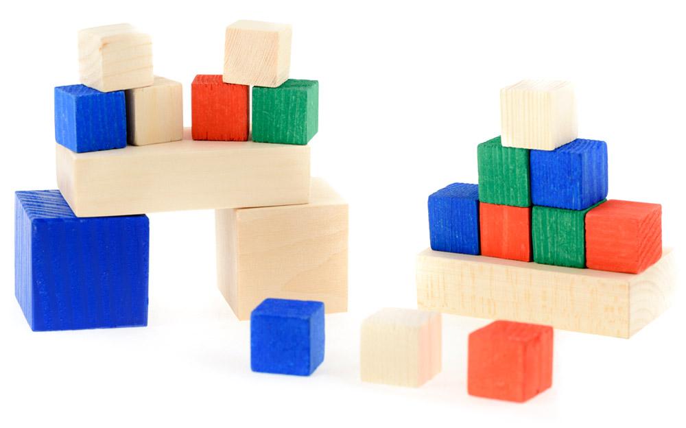 Развивающие деревянные игрушки Конструктор Счетный материал Часть-целое Д020бД020бРазвивающий набор №2 Счетный материал. Часть-целое состоит из 2-х больших кубиков гранью 40мм, 2-х больших плашек (брусков) 40х80х20мм и 16-и малых кубиков гранью примерно 20мм. При помощи данного развивающего набора ребёнок познакомится с основными геометрическими фигурами: квадратом, треугольником, прямоугольником и др. Ребёнок изучит понятие «часть-целое», научится собирать знакомые ему фигуры из элементов мозаики. Игра с набором развивает интеллект и воображение ребёнка. Собирая фигуры из частей либо других фигур, ребёнок формирует пространственное мышление. Использование натурального дерева мягких пород в сочетании с минимумом обаботки позволило максимально сохранить ощущение фактуры дерева и его аромата. Элементы набора также можно использовать в качестве счетного материала, для изучения основных цветов.