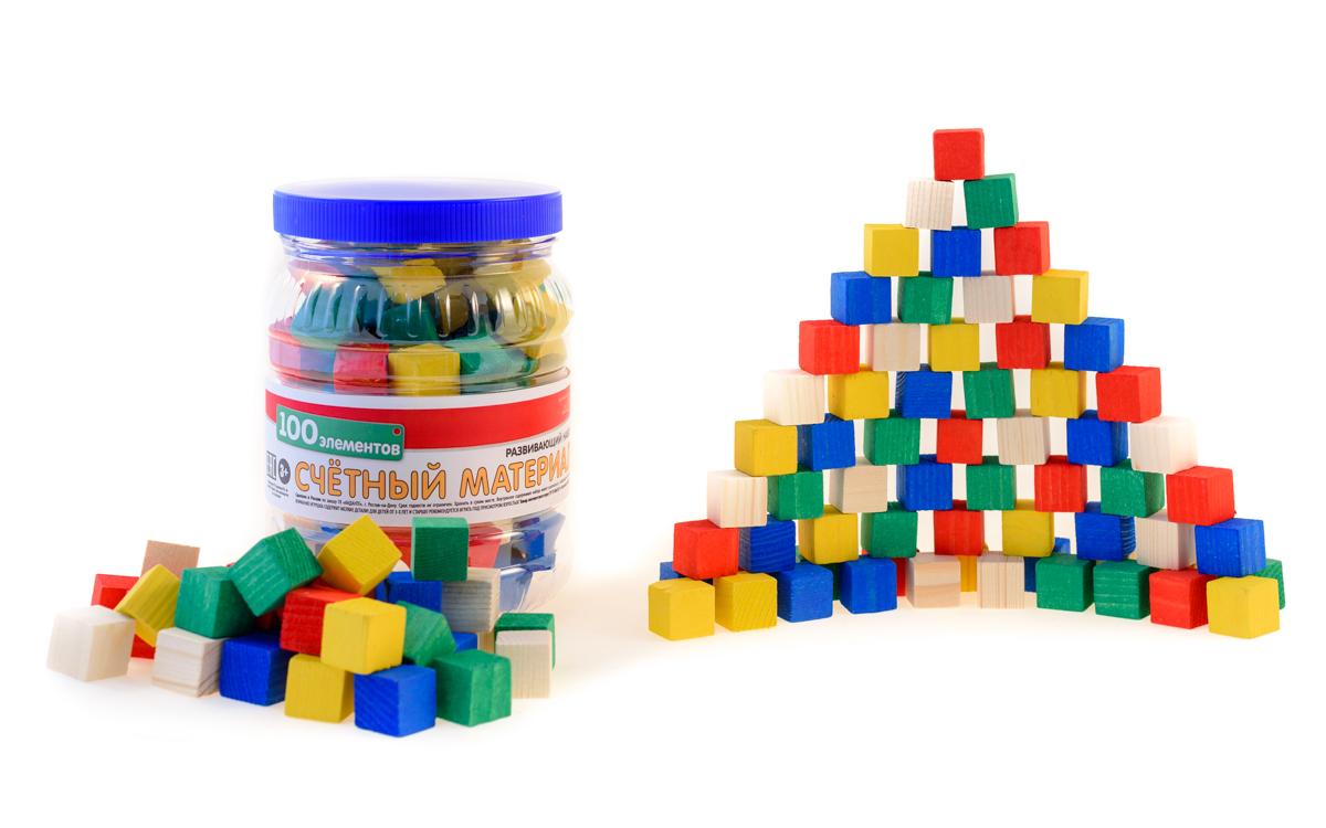 Развивающие деревянные игрушки Кубики Счетный материал Д250аД250аСчетный материал из натурального дерева — классическое пособие для изучения счета, цифр, сложения и вычитания, а также таких понятий как «больше-меньше», доли, «часть-целое». Набор развивают мелкую моторику. Набор можно использовать как конструктор, который поможет развить ребенку пространственное мышление, творческие способности. Такие игры-пособия, как набор счетного материала из натурального дерева, помогают детям тренировать усидчивость, изучать цвета, геометрические фигуры и формы, получить базовые знания об окружающем мире, вещах и предметах. Игрушки тренируют ловкость и точность рук, стимулируют развитие умственных и логических способностей у детей, подготавливают руку к письму.