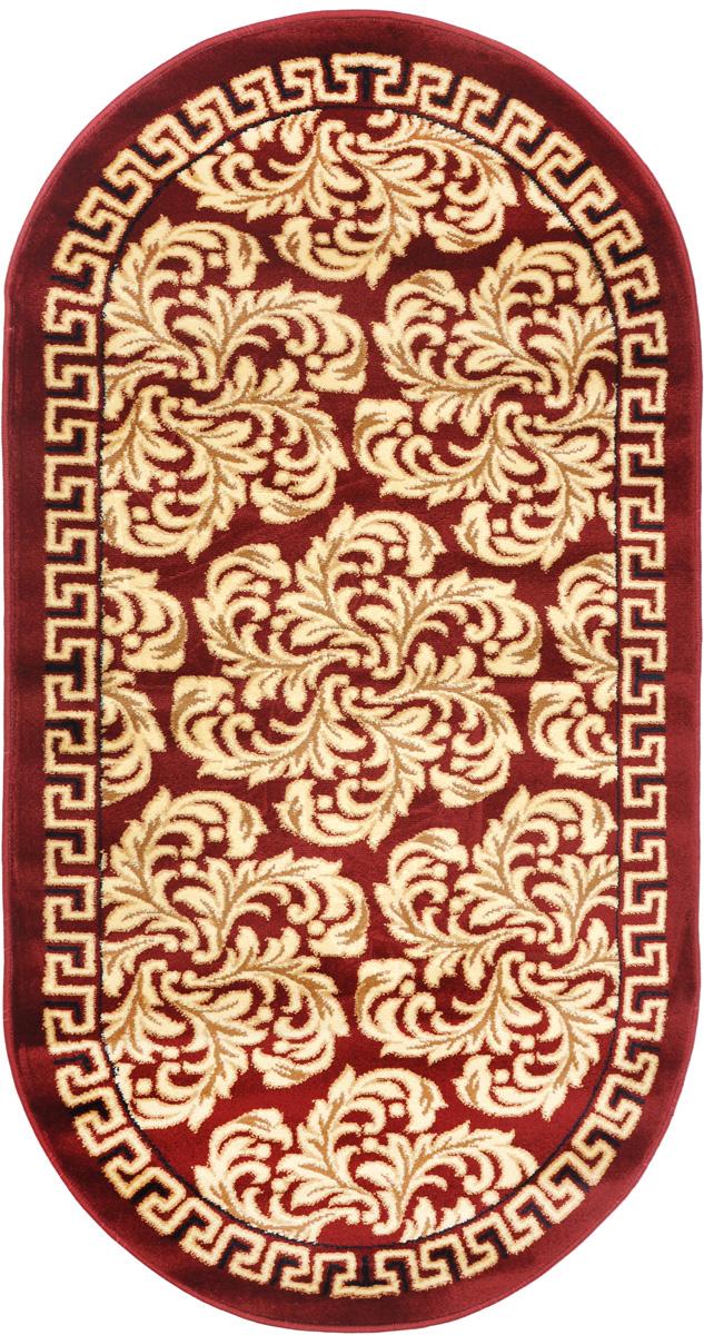 Ковер Kamalak Tekstil, овальный, 80 x 150 см. УК-0299УК-0299Ковер Kamalak Tekstil изготовлен из прочного синтетического материала heat-set, улучшенного варианта полипропилена (эта нить получается в результате его дополнительной обработки). Полипропилен износостоек, нетоксичен, не впитывает влагу, не провоцирует аллергию. Структура волокна в полипропиленовых коврах гладкая, поэтому грязь не будет въедаться и скапливаться на ворсе. Практичный и износоустойчивый ворс не истирается и не накапливает статическое электричество. Ковер обладает хорошими показателями теплостойкости и шумоизоляции. Оригинальный рисунок позволит гармонично оформить интерьер комнаты, гостиной или прихожей. За счет невысокого ворса ковер легко чистить. При надлежащем уходе синтетический ковер прослужит долго, не утратив ни яркости узора, ни блеска ворса, ни упругости. Самый простой способ избавить изделие от грязи - пропылесосить его с обеих сторон (лицевой и изнаночной). Влажная уборка с применением шампуней и...