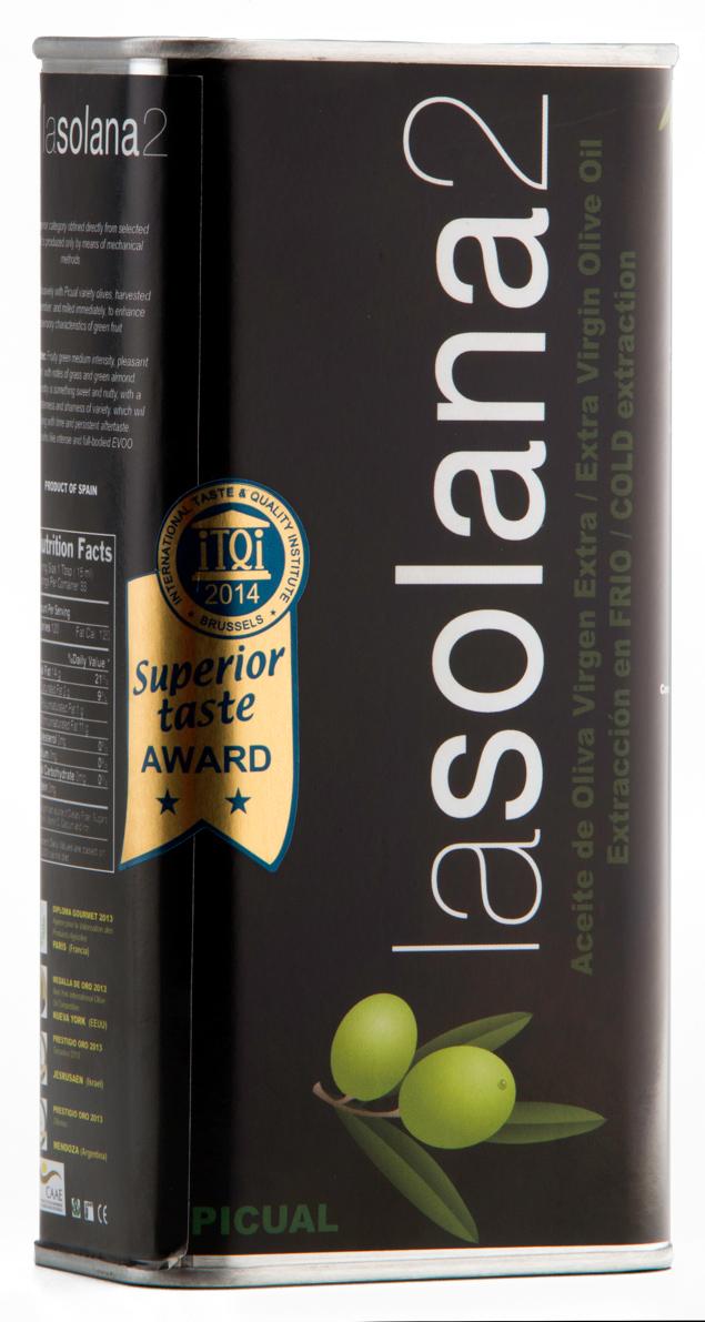 Lasolana2 масло оливковое Extra Virgin, 0,25 л (ж/б)