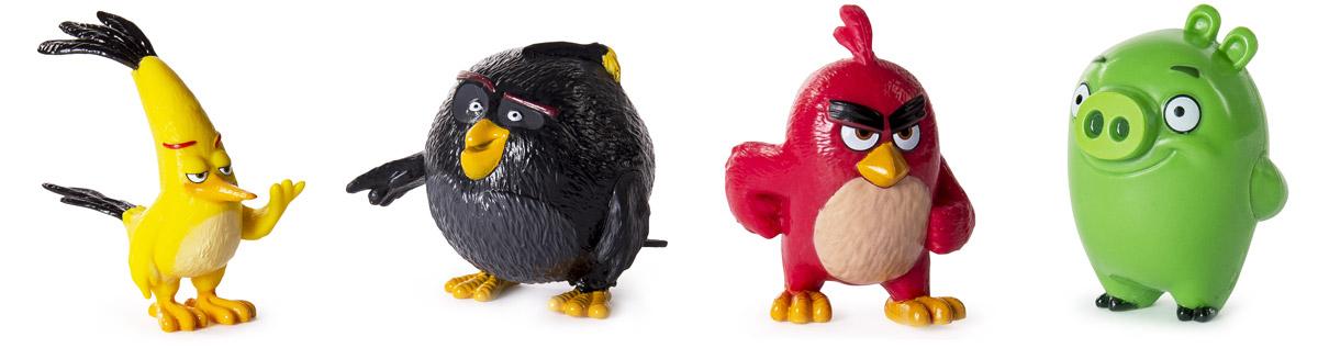 Angry Birds Набор фигурок 4 шт90509Набор фигурок Angry Birds включает в себя четырех героев популярнейшей во всем мире компьютерной игры Angry Birds (Red, Chuck, Bomb, The Pigs)! Такой подарок оценят не только дети, но и вполне взрослые люди, ведь обаянию сердитых птичек и зеленых поросят подвластны люди самых разных возрастов. Фигурки выполнены из пластика и очень тщательно детализированы. Они очень ярко и точно отражают характеры героев и их эмоции. Каждый персонаж представлен в нескольких вариантах мимики и поз. Соберите всю коллекцию смешных персонажей!