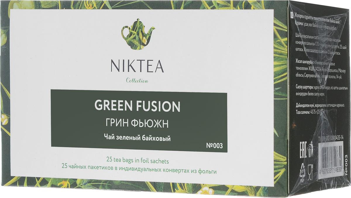 Niktea Green Fusion чай зеленый в пакетиках, 25 штTALTHA-BP0010Niktea Green Fusion - яркий, ароматный купаж зеленого чая из Китая и Японии. Раскрывается в приятной терпкости на фоне минеральных ноток. NikTea следует правилу качество чая - это отражение качества жизни и гарантирует: Тщательно подобранные рецептуры в коллекции топовых позиций-бестселлеров. Контролируемое производство и сертификацию по международным стандартам. Закупку сырья у надежных поставщиков в главных чаеводческих районах, а также в основных центрах тимэйкерской традиции - Германии и Голландии. Постоянство качества по строго утвержденным стандартам. NikTea - это два вида фасовки - линейки листового и пакетированного чая в удобной технологичной и информативной упаковке. Чай обладает многофункциональным вкусоароматическим профилем и подходит для любого типа кухни, при этом постоянно осуществляет оптимизацию базовой коллекции в соответствии с новыми тенденциями чайного рынка. Фильтр-бумага для пакетированного...