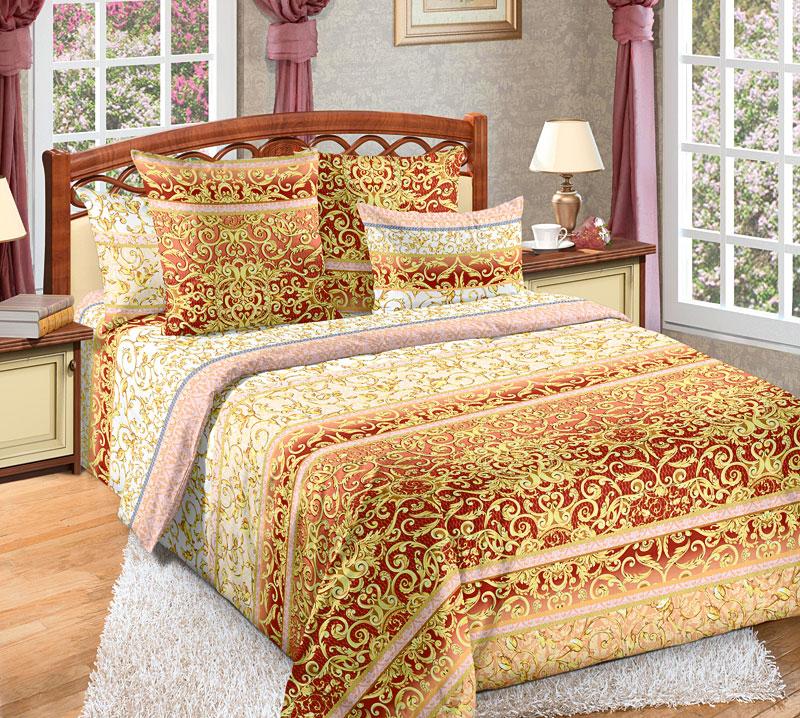Комплект белья Текс-Дизайн Людовик 2, 2-спальный, наволочки 70x702100БЕсли вы хотите купить не только качественный и красивый, но и статусный комплект постельного белья, то обратите внимание на набор Людовик с эксклюзивной расцветкой. Поверхность комплекта покрыта эффектными, словно золотыми и по-королевски роскошными вензелями. Орнамент выглядит объемным и буквально завораживает. Бязь - хлопчатобумажная плотная ткань полотняного переплетения. Отличается прочностью и стойкостью к многочисленным стиркам. Бязь считается одной из наиболее подходящих тканей, для производства постельного белья и пользуется в России большим спросом.