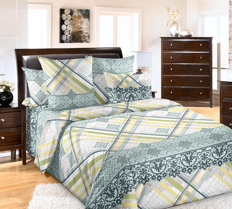 Комплект белья Текс-Дизайн Фландрия 1, 1,5-спальный, наволочки 70x701200ППеркалевое постельное белье Фландрия благодаря оригинальным узорам напоминает о роскоши графских спален. Перед таким искушением непросто устоять – элегантные орнаменты, выполненные в желтых тонах, сочетают в себе элегантные узоры, прямые линии и геометрические фигуры. Перкаль - это тонкая и легкая хлопчатобумажная ткань высокой плотности полотняного переплетения, сотканная из пряжи высоких номеров. При изготовлении перкаля используются длинноволокнистые сорта хлопка, что обеспечивает высокие потребительские свойства материала. Несмотря на свою утонченность, перкаль очень практичен – это одна из самых износостойких тканей для постельного белья.