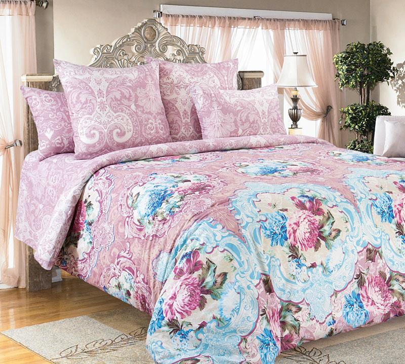 Комплект белья Текс-Дизайн Будуар, 1,5-спальный, наволочки 70x701250ПРисунок Будуар открывает для нас роскошь лепных розеток и нежность распустившихся цветов, которые связаны тонким, словно паутинка, орнаментом. Как прекрасен момент цветения! Кажется, еще миг и эти прекрасные цветы исчезнут, отцветут, оставив после себя легкий шлейф приятного аромата. Такую хрупкую красоту следует оберегать и стараться сохранить как можно дольше. Лепные античные розетки призваны обозначить границы между внешним, грубым миром и более тонким, деликатным, в котором время способно остановиться и сохранить красоту неизменной. Остановите для себя время с комплектом Будуар! Перкаль - это тонкая и легкая хлопчатобумажная ткань высокой плотности полотняного переплетения, сотканная из пряжи высоких номеров. При изготовлении перкаля используются длинноволокнистые сорта хлопка, что обеспечивает высокие потребительские свойства материала. Несмотря на свою утонченность, перкаль очень практичен – это одна из самых износостойких тканей для...