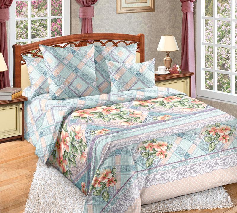 Комплект белья Текс-Дизайн Мальвина 1, евро, наволочки 70x704250ПЕсли вы ищете сочетание спокойных оттенков и классического цветочного дизайна, то перкалевое постельное белье Мальвина - это то, что вам нужно. Из сочетания оригинальных цветочных букетов и сиренево-голубых геометрических узоров родилась эксклюзивная, универсальная и элегантная расцветка. Перкаль - это тонкая и легкая хлопчатобумажная ткань высокой плотности полотняного переплетения, сотканная из пряжи высоких номеров. При изготовлении перкаля используются длинноволокнистые сорта хлопка, что обеспечивает высокие потребительские свойства материала. Несмотря на свою утонченность, перкаль очень практичен - это одна из самых износостойких тканей для постельного белья.