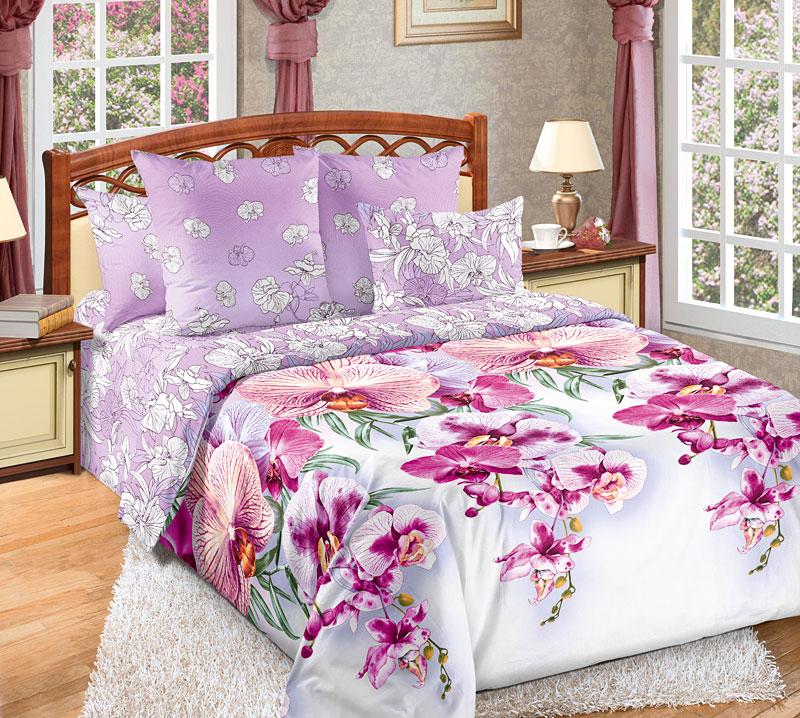 Комплект белья Текс-Дизайн Мальдивы 3, семейный, наволочки 70x706250ПУ многих Мальдивы ассоциируются с райскими тропическими островами, омываемыми прозрачными и морскими волнами. Но Мальдивы – это еще и пышная растительность, яркие экзотические цветы. Поэтому перкалевое постельное белье расцветки Мальдивы украшено экзотическими орхидеями, красоту которых эффектно оттеняет розовый фон. Перкаль - это тонкая и легкая хлопчатобумажная ткань высокой плотности полотняного переплетения, сотканная из пряжи высоких номеров. При изготовлении перкаля используются длинноволокнистые сорта хлопка, что обеспечивает высокие потребительские свойства материала. Несмотря на свою утонченность, перкаль очень практичен – это одна из самых износостойких тканей для постельного белья.