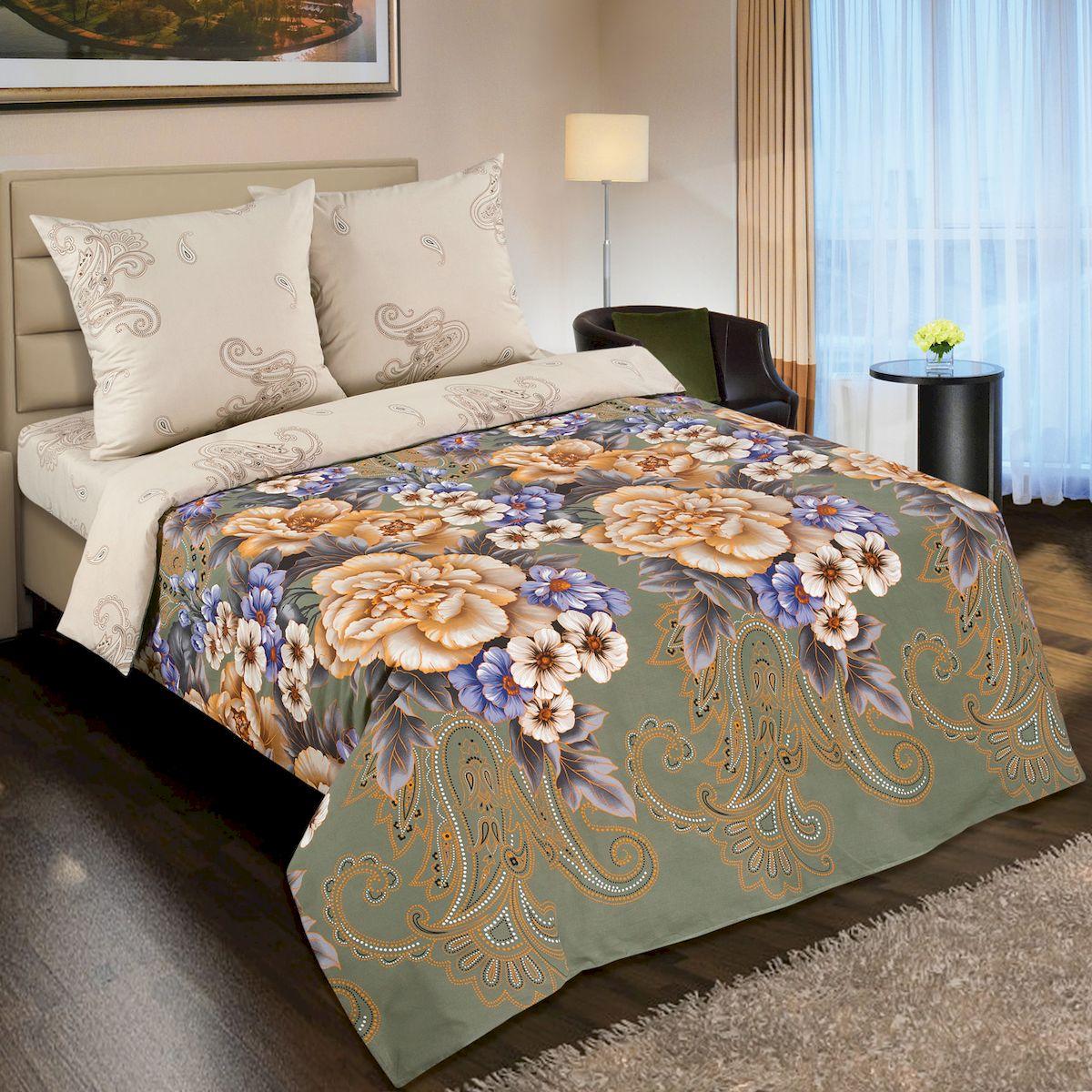 Комплект белья АртПостель Золотая вышивка, 1,5 спальное, наволочки 70x70. 900900
