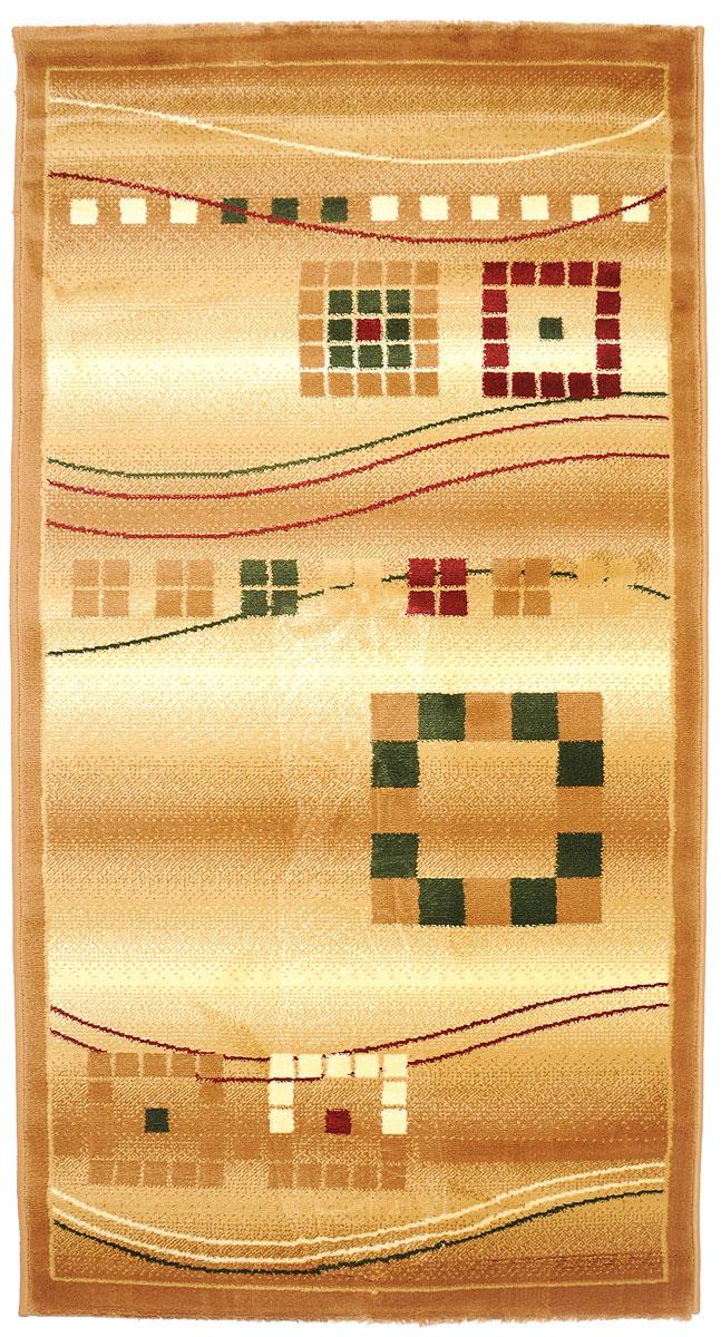 Ковер Kamalak Tekstil, прямоугольный, 80 x 150 см. УК-0081УК-0081Ковер Kamalak Tekstil изготовлен из прочного синтетического материала heat-set, улучшенного варианта полипропилена (эта нить получается в результате его дополнительной обработки). Полипропилен износостоек, нетоксичен, не впитывает влагу, не провоцирует аллергию. Структура волокна в полипропиленовых коврах гладкая, поэтому грязь не будет въедаться и скапливаться на ворсе. Практичный и износоустойчивый ворс не истирается и не накапливает статическое электричество. Ковер обладает хорошими показателями теплостойкости и шумоизоляции. Оригинальный рисунок позволит гармонично оформить интерьер комнаты, гостиной или прихожей. За счет невысокого ворса ковер легко чистить. При надлежащем уходе синтетический ковер прослужит долго, не утратив ни яркости узора, ни блеска ворса, ни упругости. Самый простой способ избавить изделие от грязи - пропылесосить его с обеих сторон (лицевой и изнаночной). Влажная уборка с применением шампуней и...