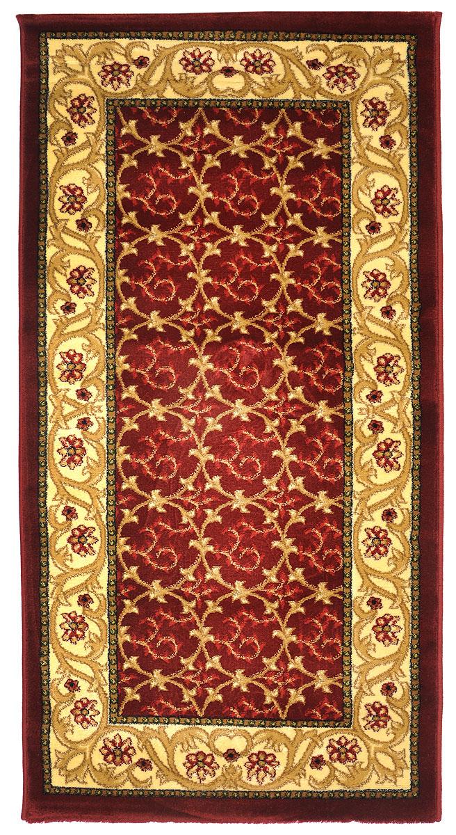 Ковер Kamalak Tekstil, прямоугольный, 80 x 150 см. УК-0222УК-0222Ковер Kamalak Tekstil изготовлен из прочного синтетического материала heat-set, улучшенного варианта полипропилена (эта нить получается в результате его дополнительной обработки). Полипропилен износостоек, нетоксичен, не впитывает влагу, не провоцирует аллергию. Структура волокна в полипропиленовых коврах гладкая, поэтому грязь не будет въедаться и скапливаться на ворсе. Практичный и износоустойчивый ворс не истирается и не накапливает статическое электричество. Ковер обладает хорошими показателями теплостойкости и шумоизоляции. Оригинальный рисунок позволит гармонично оформить интерьер комнаты, гостиной или прихожей. За счет невысокого ворса ковер легко чистить. При надлежащем уходе синтетический ковер прослужит долго, не утратив ни яркости узора, ни блеска ворса, ни упругости. Самый простой способ избавить изделие от грязи - пропылесосить его с обеих сторон (лицевой и изнаночной). Влажная уборка с применением шампуней и...