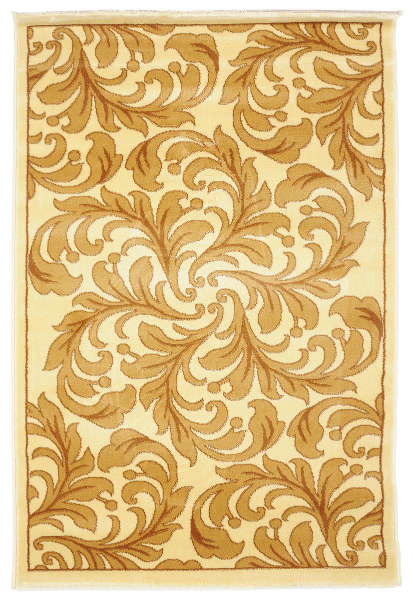 Ковер Kamalak Tekstil, прямоугольный, 100 x 150 см. УК-0314УК-0314Ковер Kamalak Tekstil изготовлен из прочного синтетического материала heat-set, улучшенного варианта полипропилена (эта нить получается в результате его дополнительной обработки). Полипропилен износостоек, нетоксичен, не впитывает влагу, не провоцирует аллергию. Структура волокна в полипропиленовых коврах гладкая, поэтому грязь не будет въедаться и скапливаться на ворсе. Практичный и износоустойчивый ворс не истирается и не накапливает статическое электричество. Ковер обладает хорошими показателями теплостойкости и шумоизоляции. Оригинальный рисунок позволит гармонично оформить интерьер комнаты, гостиной или прихожей. За счет невысокого ворса ковер легко чистить. При надлежащем уходе синтетический ковер прослужит долго, не утратив ни яркости узора, ни блеска ворса, ни упругости. Самый простой способ избавить изделие от грязи - пропылесосить его с обеих сторон (лицевой и изнаночной). Влажная уборка с применением шампуней и...