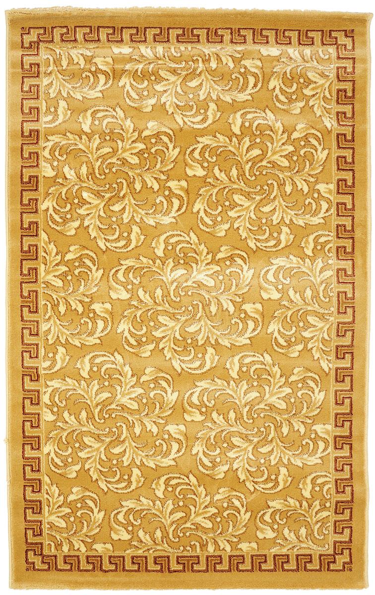 Ковер Kamalak Tekstil, прямоугольный, 100 x 150 см. УК-0278УК-0278Ковер Kamalak Tekstil изготовлен из прочного синтетического материала heat-set, улучшенного варианта полипропилена (эта нить получается в результате его дополнительной обработки). Полипропилен износостоек, нетоксичен, не впитывает влагу, не провоцирует аллергию. Структура волокна в полипропиленовых коврах гладкая, поэтому грязь не будет въедаться и скапливаться на ворсе. Практичный и износоустойчивый ворс не истирается и не накапливает статическое электричество. Ковер обладает хорошими показателями теплостойкости и шумоизоляции. Оригинальный рисунок позволит гармонично оформить интерьер комнаты, гостиной или прихожей. За счет невысокого ворса ковер легко чистить. При надлежащем уходе синтетический ковер прослужит долго, не утратив ни яркости узора, ни блеска ворса, ни упругости. Самый простой способ избавить изделие от грязи - пропылесосить его с обеих сторон (лицевой и изнаночной). Влажная уборка с применением шампуней и...