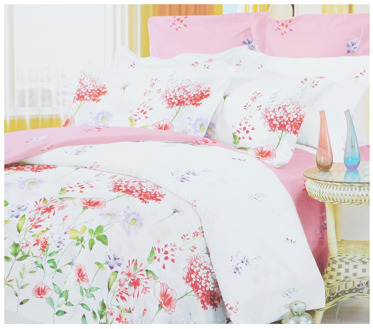 Комплект белья Primavera Утро, 1,5-спальный, наволочки 70x70, цвет: розовый, белый88263_розовыйРоскошный комплект постельного белья Primavera Утро выполнен из качественного плотного сатина и украшен оригинальным цветочным рисунком. Комплект состоит из пододеяльника, простыни и двух наволочек. Сатин - это ткань из 100% натурального хлопка. Мягкость и нежность материала создает чувство комфорта и защищенности. Классический натуральный природный материал делает это постельное белье нежным, элегантным и приятным. Приобретая комплект постельного белья Primavera Утро, вы можете быть уверены в том, что покупка доставит вам и вашим близким удовольствие и подарит максимальный комфорт.