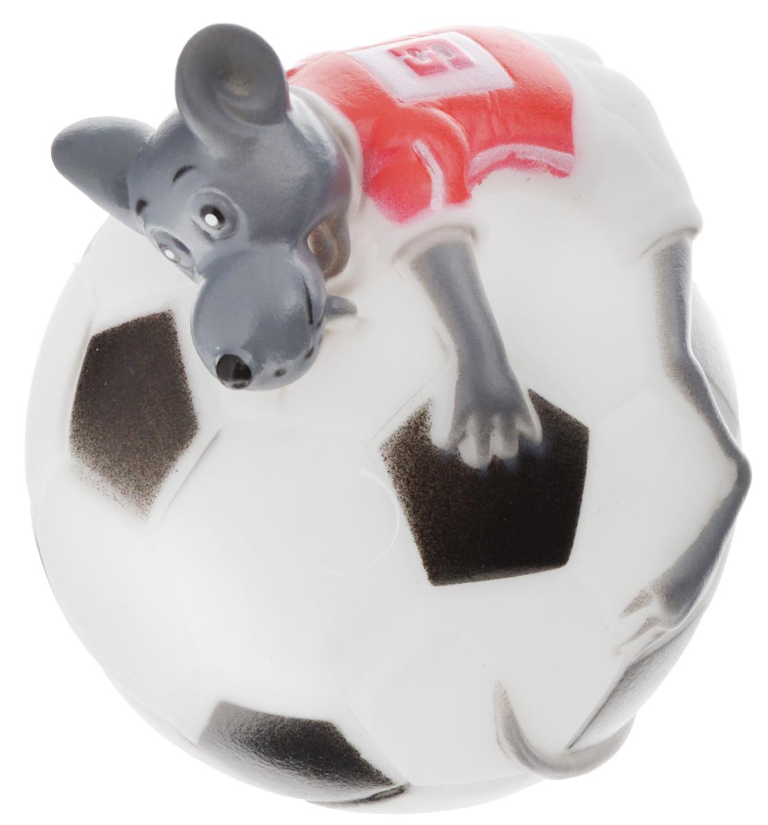Игрушка для собак Каскад Мышь на футбольном мяче, диаметр 10 см27799282Игрушка для собак Каскад Мышь на футбольном мяче изготовлена из мягкой и прочной безопасной резины, устойчивой к разгрызанию. Игрушка снабжена пищалкой. Изделие отличается прочностью и в то же время мягкостью и эластичностью. Необычная и забавная игрушка прекрасно подойдет для игр вашей собаки.