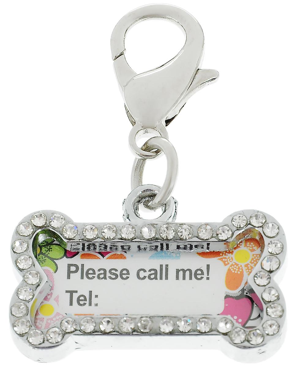 Брелок на ошейник Pet Fun КосточкаYL71419-MБрелок на ошейник Pet Fun Косточка будет очень полезен, если ваша собака или кошка потерялась. Брелок, выполненный из металла, крепится на ошейник с помощью карабина, он плотно держится и не расстегнется при беге. Внутри хранится бумажка, где вы можете написать свой номер телефона. С таким аксессуаром человек, нашедший вашего любимца, очень быстро вернет его домой. Брелочек Pet Fun Косточка отлично будет смотреться на вашем любимце, и не будет ему мешать при активной прогулке. Размер изделия (без учета карабина): 2,5 х 2 см.