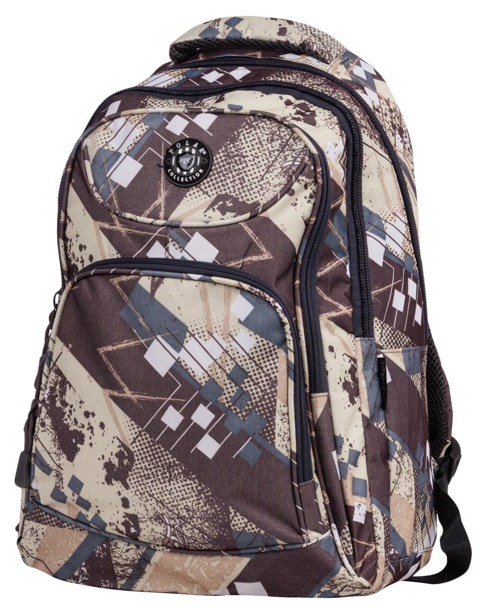 Рюкзак городской Polar, цвет: бежево-черный. 23,5л. 80032