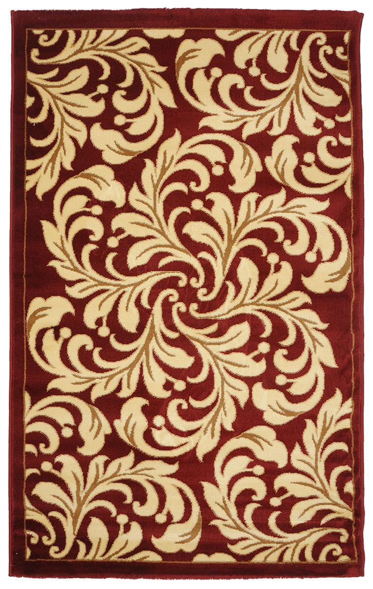 Ковер Kamalak Tekstil, прямоугольный, 100 x 150 см. УК-0326УК-0326Ковер Kamalak Tekstil изготовлен из прочного синтетического материала heat-set, улучшенного варианта полипропилена (эта нить получается в результате его дополнительной обработки). Полипропилен износостоек, нетоксичен, не впитывает влагу, не провоцирует аллергию. Структура волокна в полипропиленовых коврах гладкая, поэтому грязь не будет въедаться и скапливаться на ворсе. Практичный и износоустойчивый ворс не истирается и не накапливает статическое электричество. Ковер обладает хорошими показателями теплостойкости и шумоизоляции. Оригинальный рисунок позволит гармонично оформить интерьер комнаты, гостиной или прихожей. За счет невысокого ворса ковер легко чистить. При надлежащем уходе синтетический ковер прослужит долго, не утратив ни яркости узора, ни блеска ворса, ни упругости. Самый простой способ избавить изделие от грязи - пропылесосить его с обеих сторон (лицевой и изнаночной). Влажная уборка с применением шампуней и...