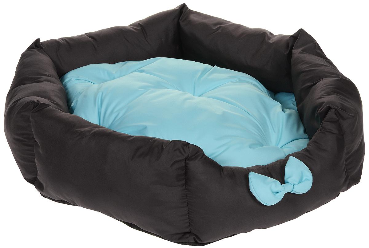 Лежанка для собак Lion Manufactory Комфорт, цвет: коричневый, мятный, 60 х 52 х 19 смLM4090-001m_мятныйЛежанка Lion Manufactory Комфорт, выполненная из хлопка и синтепона, предназначена для собак. Она идеальна для клеток и автомобилей. Легко складывается для хранения и перевозки. К изделию не прилипает шерсть животного. Изделие оснащено съемной подушкой.