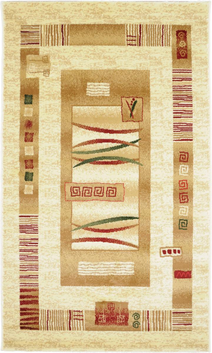 Ковер Kamalak Tekstil, прямоугольный, 100 x 150 см. УК-0044УК-0044Ковер Kamalak Tekstil изготовлен из прочного синтетического материала heat-set, улучшенного варианта полипропилена (эта нить получается в результате его дополнительной обработки). Полипропилен износостоек, нетоксичен, не впитывает влагу, не провоцирует аллергию. Структура волокна в полипропиленовых коврах гладкая, поэтому грязь не будет въедаться и скапливаться на ворсе. Практичный и износоустойчивый ворс не истирается и не накапливает статическое электричество. Ковер обладает хорошими показателями теплостойкости и шумоизоляции. Оригинальный рисунок позволит гармонично оформить интерьер комнаты, гостиной или прихожей. За счет невысокого ворса ковер легко чистить. При надлежащем уходе синтетический ковер прослужит долго, не утратив ни яркости узора, ни блеска ворса, ни упругости. Самый простой способ избавить изделие от грязи - пропылесосить его с обеих сторон (лицевой и изнаночной). Влажная уборка с применением шампуней и моющих средств не противопоказана. ...