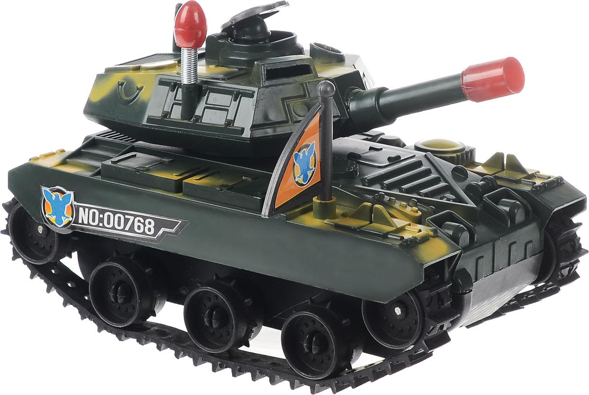 ABtoys ТанкC-00174(C-00041)Танк ABtoys обязательно привлечет внимание вашего ребенка. При включении игрушки танк начинает движение вперед, при этом дуло пушки светится, а танкист на башне выглядывает из люка и прячется обратно. Главная особенность танка заключается в том, при наезде на наклонное препятствие танк переворачивается, встает на гусеницы и продолжает движение. Малыш проведет с этой игрушкой много увлекательных часов, разыгрывая различные ситуации. Ваш ребенок будет в восторге от такого подарка! Для работы игрушки необходимы 3 батарейки типа АА напряжением 1,5V (не входят в комплект).