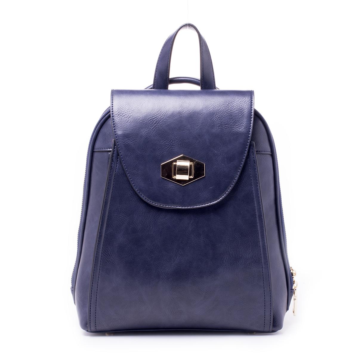 Рюкзак женский Baggini, цвет: синий. 29839/4329839/43Загрязнения на изделиях удаляется влажной мягкой тканью