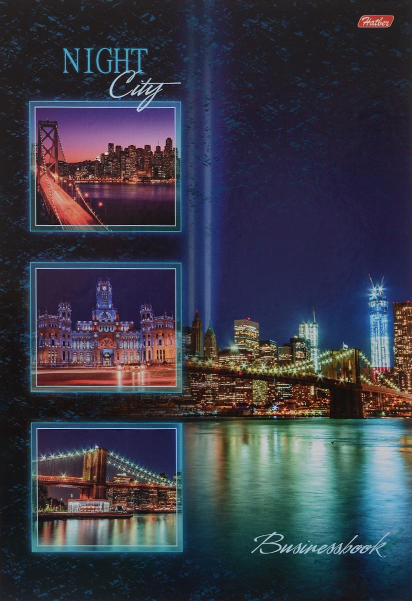 Hatber Бизнес блокнот Ночной город 120 листов в клетку120ББ4B1_12523