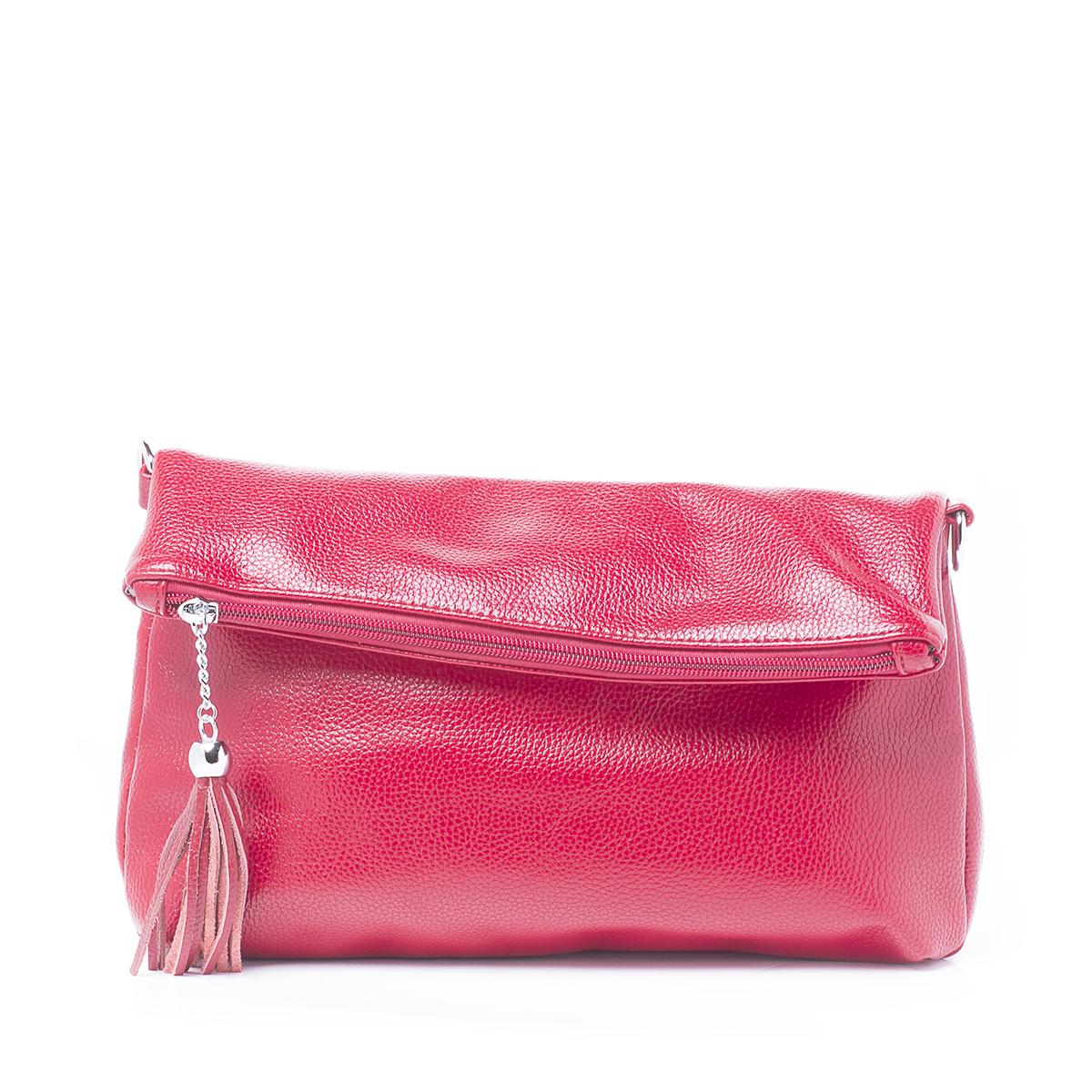 Сумка женская Renee Kler, цвет: красный. RK512-09RK512-09Стильная женская сумка Renee Kler изготовлена из искусственной кожи. Изделие имеет одно основное отделение, которое закрывается на застежку-молнию. Внутри расположены два накладных открытых кармана и прорезной карман на застежке-молнии. Снаружи, на задней стенке находится прорезной карман на застежке-молнии. Сумка оснащена съемным регулируемым плечевым ремнем. Роскошная сумка внесет элегантные нотки в ваш образ и подчеркнет ваше отменное чувство стиля.