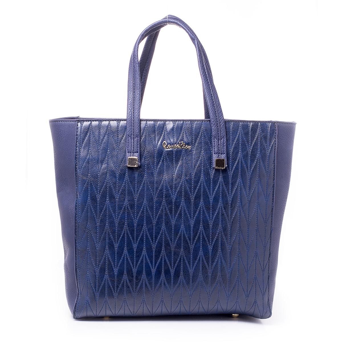 Сумка женская Renee Kler, цвет: сине-фиолетовый. RK515-06RK515-06Стильная женская сумка Renee Kler выполнена из качественной искусственной кожи. Сумка оформлена оригинальным тиснением. Сумка имеет одно отделение и застегивается на молнию. Лицевая часть декорирована металлическим элементом с названием бренда. Внутри отделения находятся два накладных кармана и один врезной карман на застежке-молнии. Отделение разделено карманом-средником на застежке-молнии. Сумка оснащена двумя удобными ручками с металлической фурнитурой.