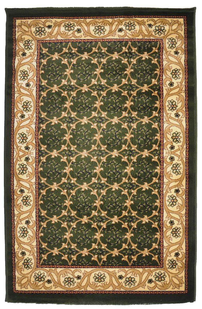 Ковер Kamalak Tekstil, прямоугольный, 100 x 150 см. УК-0218УК-0218Ковер Kamalak Tekstil изготовлен из прочного синтетического материала heat-set, улучшенного варианта полипропилена (эта нить получается в результате его дополнительной обработки). Полипропилен износостоек, нетоксичен, не впитывает влагу, не провоцирует аллергию. Структура волокна в полипропиленовых коврах гладкая, поэтому грязь не будет въедаться и скапливаться на ворсе. Практичный и износоустойчивый ворс не истирается и не накапливает статическое электричество. Ковер обладает хорошими показателями теплостойкости и шумоизоляции. Оригинальный рисунок позволит гармонично оформить интерьер комнаты, гостиной или прихожей. За счет невысокого ворса ковер легко чистить. При надлежащем уходе синтетический ковер прослужит долго, не утратив ни яркости узора, ни блеска ворса, ни упругости. Самый простой способ избавить изделие от грязи - пропылесосить его с обеих сторон (лицевой и изнаночной). Влажная уборка с применением шампуней и...