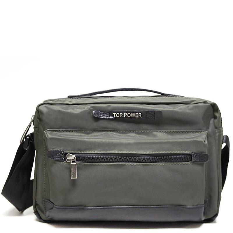 Сумка мужская Top Power, цвет: хаки, черный. 23012301 TP khakiМужская сумка Top Power сумка закрывается на застежку-молнию. Вшитый регулируемый плечевой ремень. Удобные и стильные сумки Top Power призваны подчеркнуть ваш неповторимый стиль.
