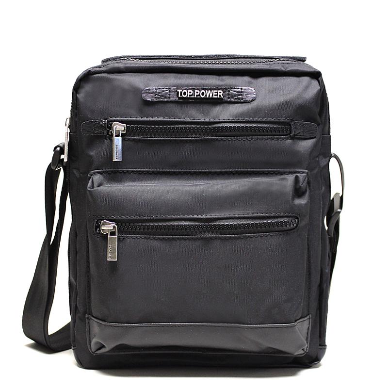 Сумка мужская Top Power, цвет: черный. 23032303 TP blackМужская сумка Top Power сумка закрывается на застежку-молнию. Вшитый регулируемый плечевой ремень. Удобные и стильные сумки Top Power призваны подчеркнуть ваш неповторимый стиль.