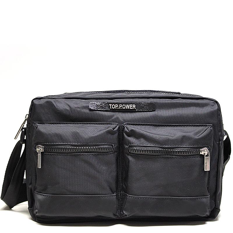 Сумка мужская Top Power, цвет: черный. 23042304 TP blackМужская сумка Top Power сумка закрывается на застежку-молнию. Вшитый регулируемый плечевой ремень. Удобные и стильные сумки Top Power призваны подчеркнуть ваш неповторимый стиль.