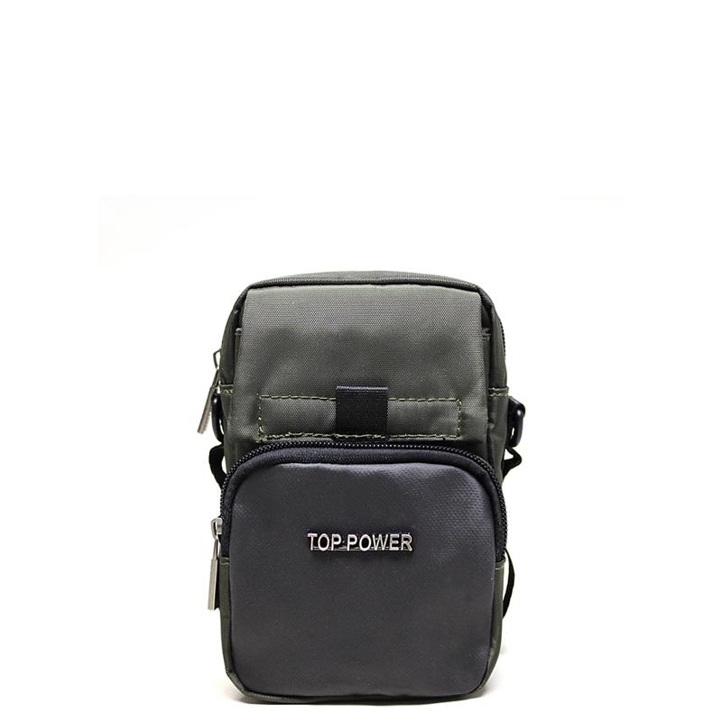 Сумка мужская Top Power, цвет: хаки, черный. 23062306 TP khakiМужская сумка Top Power сумка закрывается на застежку-молнию. Вшитый регулируемый плечевой ремень. Удобные и стильные сумки Top Power призваны подчеркнуть ваш неповторимый стиль.