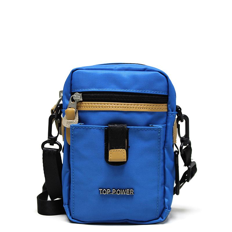 Сумка мужская Top Power, цвет: синий, бежевый, черный. 23112311 TP blueМужская сумка Top Power сумка закрывается на застежку-молнию. Вшитый регулируемый плечевой ремень. Удобные и стильные сумки Top Power призваны подчеркнуть ваш неповторимый стиль.