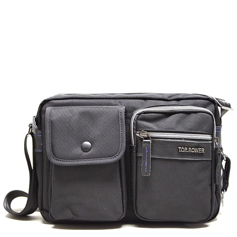 Сумка мужская Top Power, цвет: черный. 23282328 TP blackМужская сумка Top Power сумка закрывается на застежку-молнию. Вшитый регулируемый плечевой ремень. Удобные и стильные сумки Top Power призваны подчеркнуть ваш неповторимый стиль.