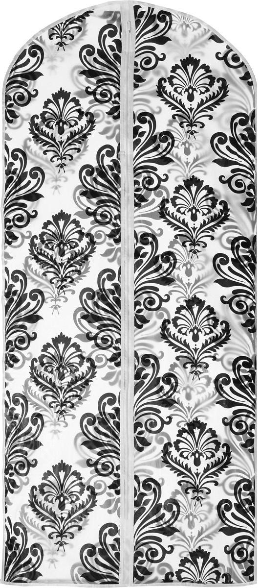 Чехол для одежды Eva Вензеля, 60 х 135 смЕ-16301_белый, черныйПрочный водонепроницаемый чехол для одежды Eva выполнен из материала PEVA/ПЭВА (полиэтиленвинилацетат) и оформлен красивым рисунком. Чехол сохранит ваши вещи в отличном состоянии, защитит их от пыли, грязи и UV-излучения, а также не позволит им помяться. Изделие закрывается на застежку-молнию. Чехол для одежды Eva создаст уютную атмосферу в женском гардеробе. Лаконичный дизайн придется по вкусу ценительницам эстетичного хранения. Изделие станет незаменимым приобретением для перевозки или хранения вещей. Не содержит хлора: более экологичное производство и утилизация.