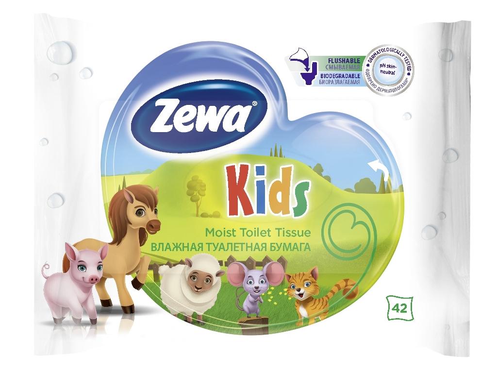 Бумага туалетная Zewa Kids, влажная, 42 листа6787Влажная туалетная бумага Zewa Kids. Белая влажная туалетная бумага с нежным свежим ароматом. 42 ультрамягких влажных листка в упаковке. Смываемая, биоразлагаемая, одобрена дерматологами, PH-нейтральная для кожи. Влажная туалетная бумага Zewa подарит вам непревзойденное ощущение чистоты и свежести. Она обеспечивает мягкое очищение, прекрасно растворяется в воде и разлагается в природных условиях. Производство: Великобритания