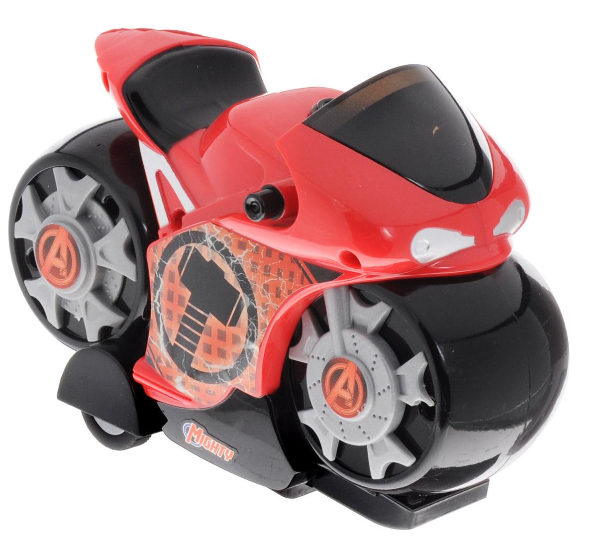 Avengers Мотоцикл инерционный Thor5073_красныйПотрясающий мотоцикл Avengers Thor станет прекрасным подарком для любого поклонника вселенной Мстители. На лобовом стекле мотоцикла и на дисках колес нанесен логотип Мстителей, на борту - эмблема супергероя. Мотоцикл изготовлен из высококачественного прочного пластика и принесет ребенку массу удовольствия во время игры. Мотоцикл обладает инерционным механизмом и световыми эффектами. Рекомендуется докупить 3 батарейки напряжением 1,5V типа АG13 (товар комплектуется демонстрационными).
