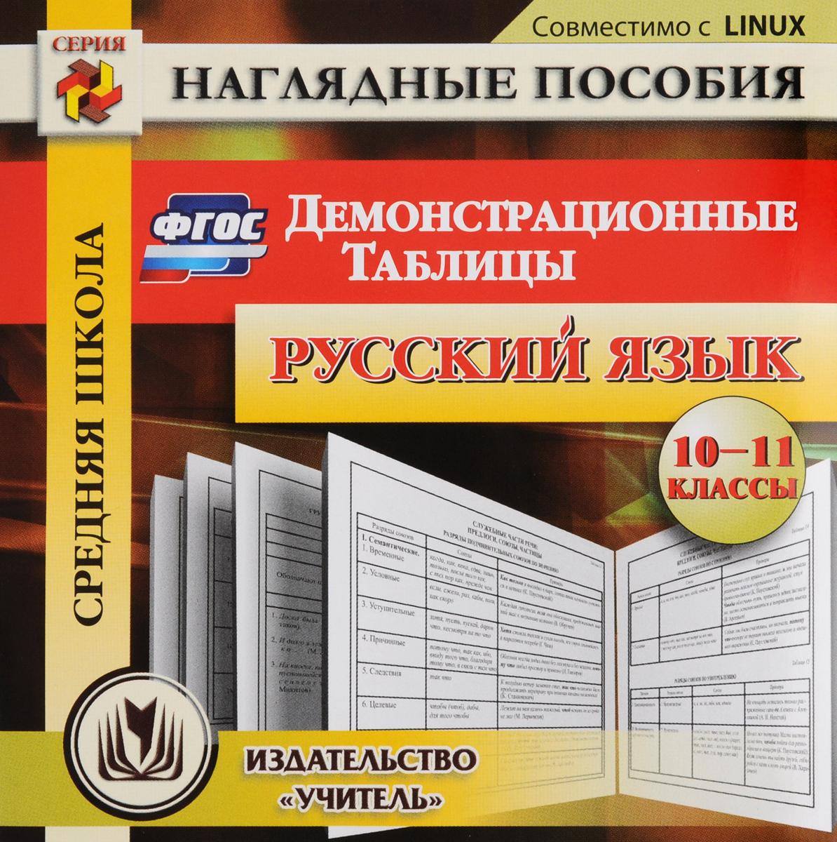 Русский язык. 10-11 классы. Демонстрационные таблицы