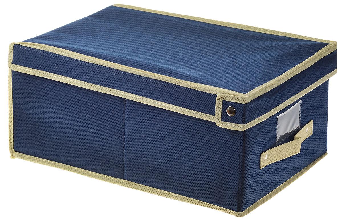 Чехол-коробка для хранения вещей Voila, цвет: светло-бежевый, бежевый, 30 х 45 х 20 смCOVLSCT001_бежевый, синийЧехол-коробка Voila выполнен из полипропилена и предназначен для хранения вещей. Он защитит вещи от повреждений, пыли, влаги и загрязнений во время хранения и транспортировки. Чехол-коробка идеально подходит для хранения детских вещей и игрушек. Жесткий каркас из плотного толстого картона обеспечивает устойчивость конструкции. В окне-кармашке на передней стенке чехла можно поместить бумажную этикетку с указанием содержимого.