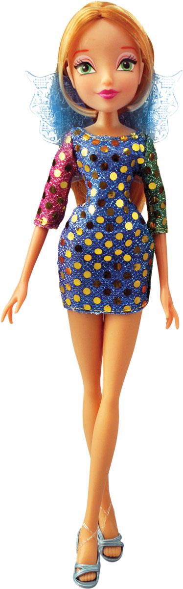 Winx Club Кукла Диско FloraIW01261500_FloraВсе девочки мечтают играть с куклами Winx, ведь они выполнены в виде знаменитых девушек-фей из мультсериала Winx Club. Феи-подружки Блум, Стелла, Текна, Муза, Лэйла и Флора выручают друг друга в беде и спасают мир от темных сил. Юные феи Winx - удивительные могущественные волшебницы, которым под силу любое превращение! А еще они, как и все девчонки, самые настоящие модницы! Волшебницы Винкс обожают крутиться перед зеркалом и менять наряды! Кукла Winx Club Диско Flora порадует вашу малышку и доставит ей много удовольствия от часов, посвященных игре с ней. Куколка с длинными русыми локонами одета в модное блестящее платье, а на ногах - открытые босоножки. Образ дополняют голубые крылышки у нее за спиной. Ручки, ножки и голова Флоры подвижны. Ваша малышка с удовольствием будет играть с этой куколкой, проигрывая сюжеты из мультсериала или придумывая различные истории. Флора родилась весной под знаком Зодиака Дриада. Ее любимый цвет - розовый....