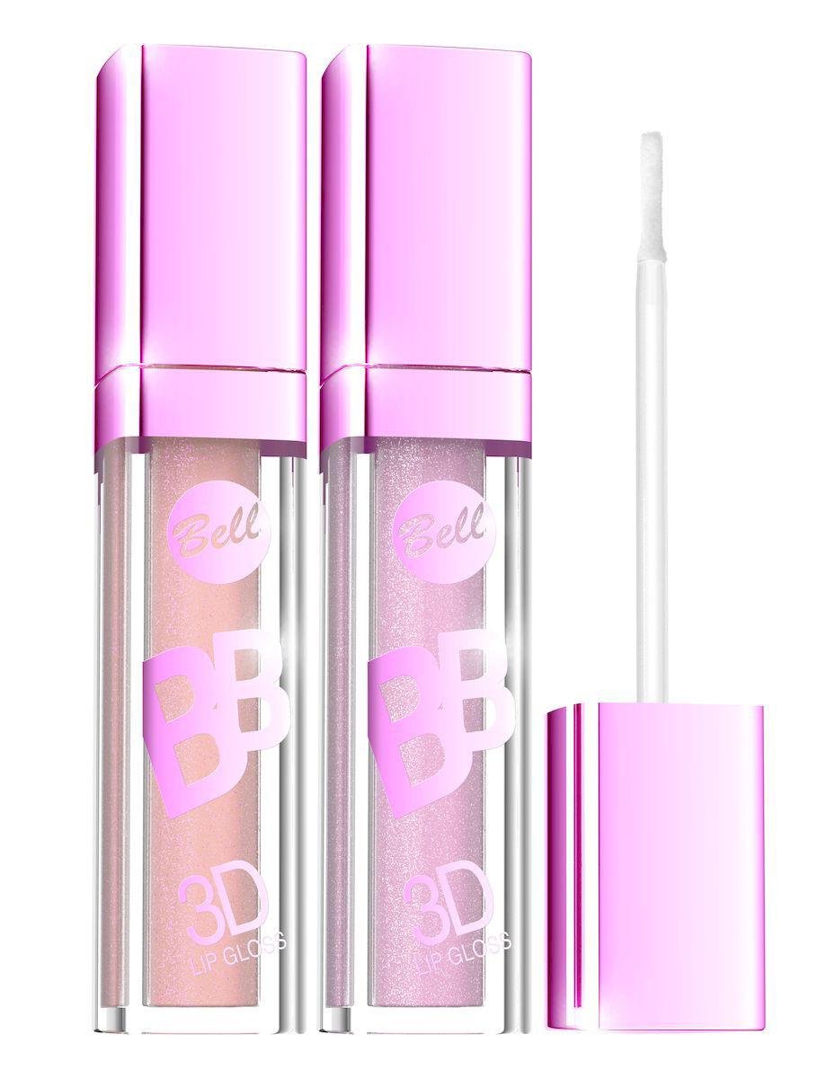 Bell Набор блесков визуально увеличивающих объем губ BB 3D Lip Gloss: тон №3, тон №4, 12 млBsp02Идеальный Блеск для тебя и твоих губ. Блеск для губ Fashion Colour покрывает губы цветом с глянцевым эффектом и одновременно увлажняет. Золотистый пигмент в составе Блеска сделает Ваши губы еще более притягательными и соблазнительными. Благодаря удобному аппликатору и атласной текстуре Блеск легко и ровно наносится на губы. Только супермодные оттенки для Вас.